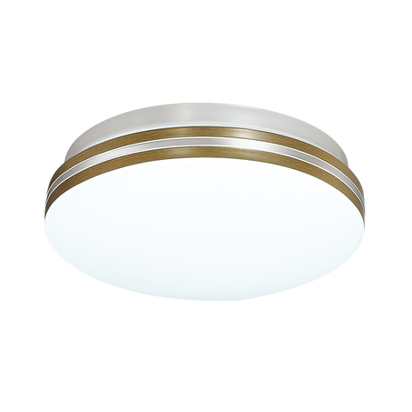 Потолочный светодиодный светильник Sonex Smalli 3015/CL, IP43, LED 30W 4000K 3150lm, белый, коричневый, металл, пластик