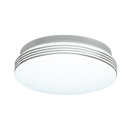 Потолочный светодиодный светильник Sonex Smalli 3016/AL, IP43, LED 12W 4000K 1100lm, белый, хром с белым, белый с хромом, металл, пластик