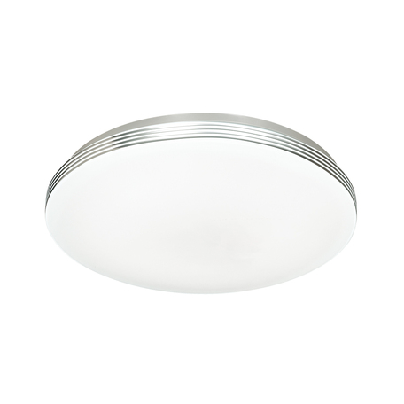 Потолочный светодиодный светильник Sonex Smalli 3016/CL, IP43, LED 30W 4000K 3150lm, белый, хром с белым, белый с хромом, металл, пластик