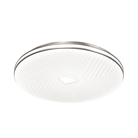 Потолочный светодиодный светильник с пультом ДУ Sonex Berasa 3018/DL, IP43, LED 48W 340036503800lm, белый, хром, металл, пластик
