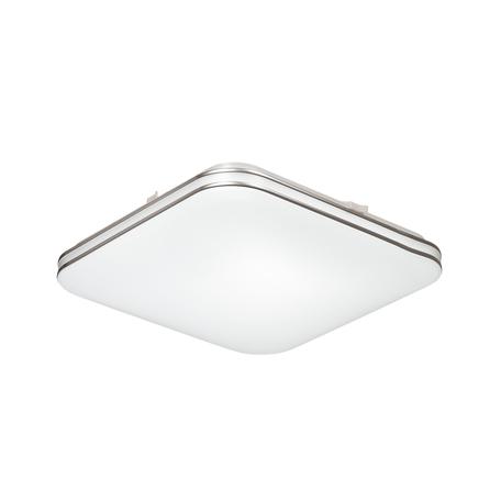 Потолочный светодиодный светильник Sonex Lona 3020/CL, IP43, LED 30W 4000K 3150lm, белый, белый с хромом, металл, пластик