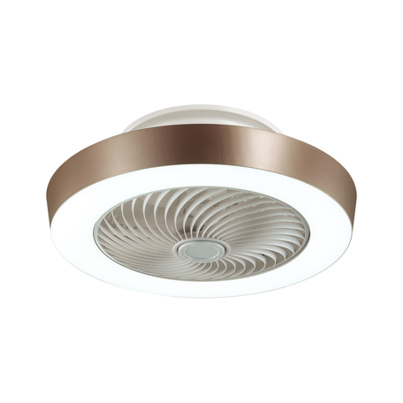 Потолочный светодиодный светильник-вентилятор с пультом ДУ Sonex Vasta LED Fan Brown 3035/72EL, LED 72W 318034804600lm, белый, коричневый, металл, металл с пластиком