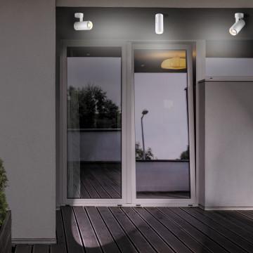 Потолочный светодиодный светильник с регулировкой направления света Novotech Street Kaimas 358290, IP54, LED 9W 4000K 630lm, белый, металл