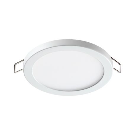 Встраиваемая светодиодная панель Novotech Stea 358267, LED 8W 4000K 560lm, белый, металл с пластиком