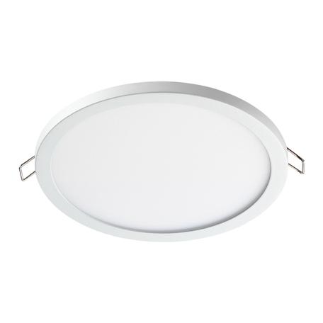 Встраиваемая светодиодная панель Novotech Spot Stea 358268, LED 15W 4000K 1200lm, белый, металл с пластиком