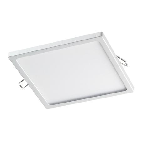 Встраиваемая светодиодная панель Novotech Spot Stea 358272, LED 15W 4000K 1200lm, белый, металл с пластиком