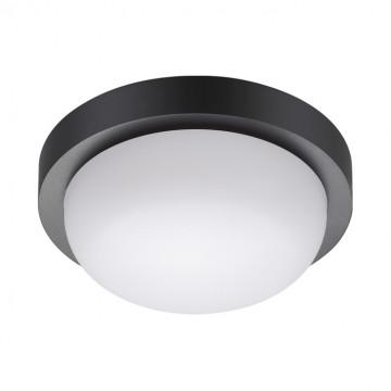 Настенный светодиодный светильник Novotech Street Opal 358015, IP65, LED 12W 4000K 600lm, черный с белым, пластик