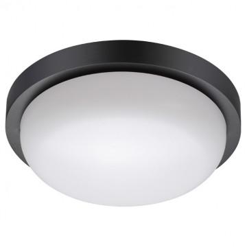 Настенный светодиодный светильник Novotech Street Opal 358017, IP65, LED 18W 4000K 1500lm, черный с белым, пластик