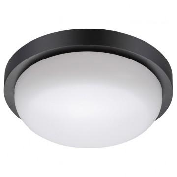 Потолочный светильник Novotech 358017, IP65, черный, белый, пластик