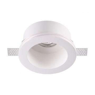 Встраиваемый светильник Novotech Yeso 370470, 1xGU10x50W, белый, под покраску, гипс