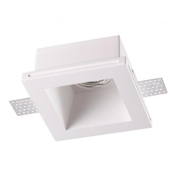 Встраиваемый светильник Novotech Yeso 370482, 1xGU10x50W, белый, под покраску, гипс