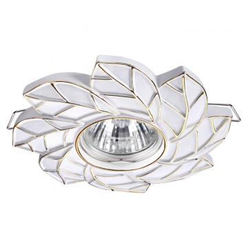 Встраиваемый светильник Novotech Pattern 370487, 1xGU10x50W, белый, золото, песчаник