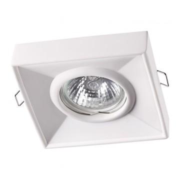 Встраиваемый светильник Novotech Yeso 370493, 1xGU10x50W, белый, под покраску, гипс