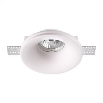 Встраиваемый светильник Novotech Spot Yeso 370484, 1xGU10x50W, белый, под покраску, гипс