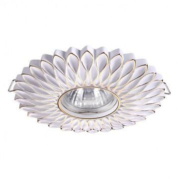 Встраиваемый светильник Novotech Pattern 370489, 1xGU10x50W, белый, золото, песчаник