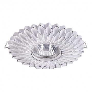 Встраиваемый светильник Novotech Pattern 370490, 1xGU10x50W, белый, серебро, песчаник