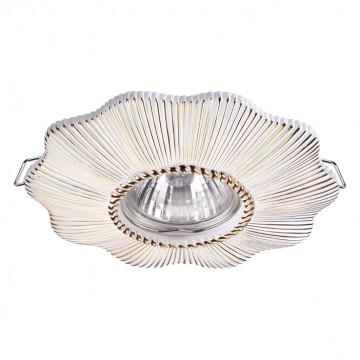 Встраиваемый светильник Novotech Pattern 370491, 1xGU10x50W, белый, песчаник
