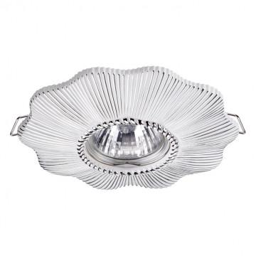Встраиваемый светильник Novotech Pattern 370492, 1xGU10x50W, белый, серебро, песчаник