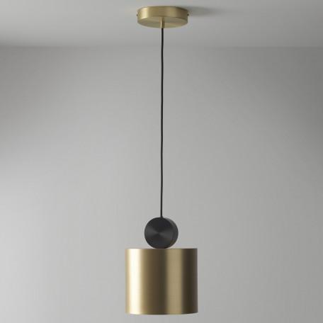 Подвесной светодиодный светильник LUSTRAM Calée 23 CALE PENDANT V2 23, LED, матовое золото, черный, металл