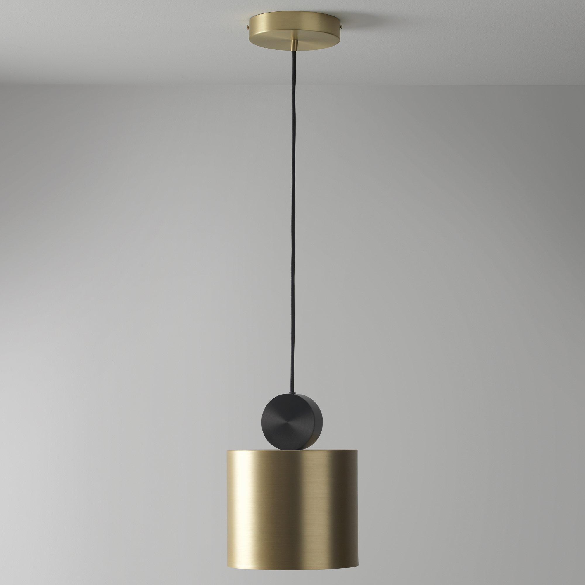 Подвесной светодиодный светильник LUSTRAM Calée 23 CALE PENDANT V2 23, LED, матовое золото, черный, металл - фото 1