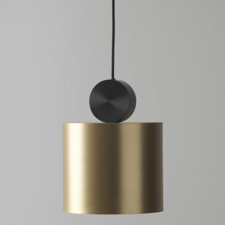 Подвесной светодиодный светильник LUSTRAM Calée 23 CALE PENDANT V2 23, LED, матовое золото, черный, металл - миниатюра 2