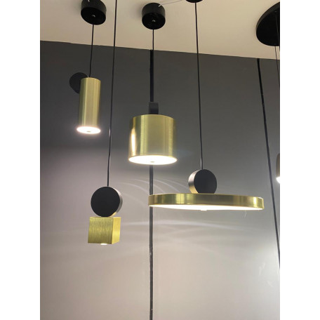 Подвесной светодиодный светильник LUSTRAM Calée 23 CALE PENDANT V2 23, LED, матовое золото, черный, металл - миниатюра 3