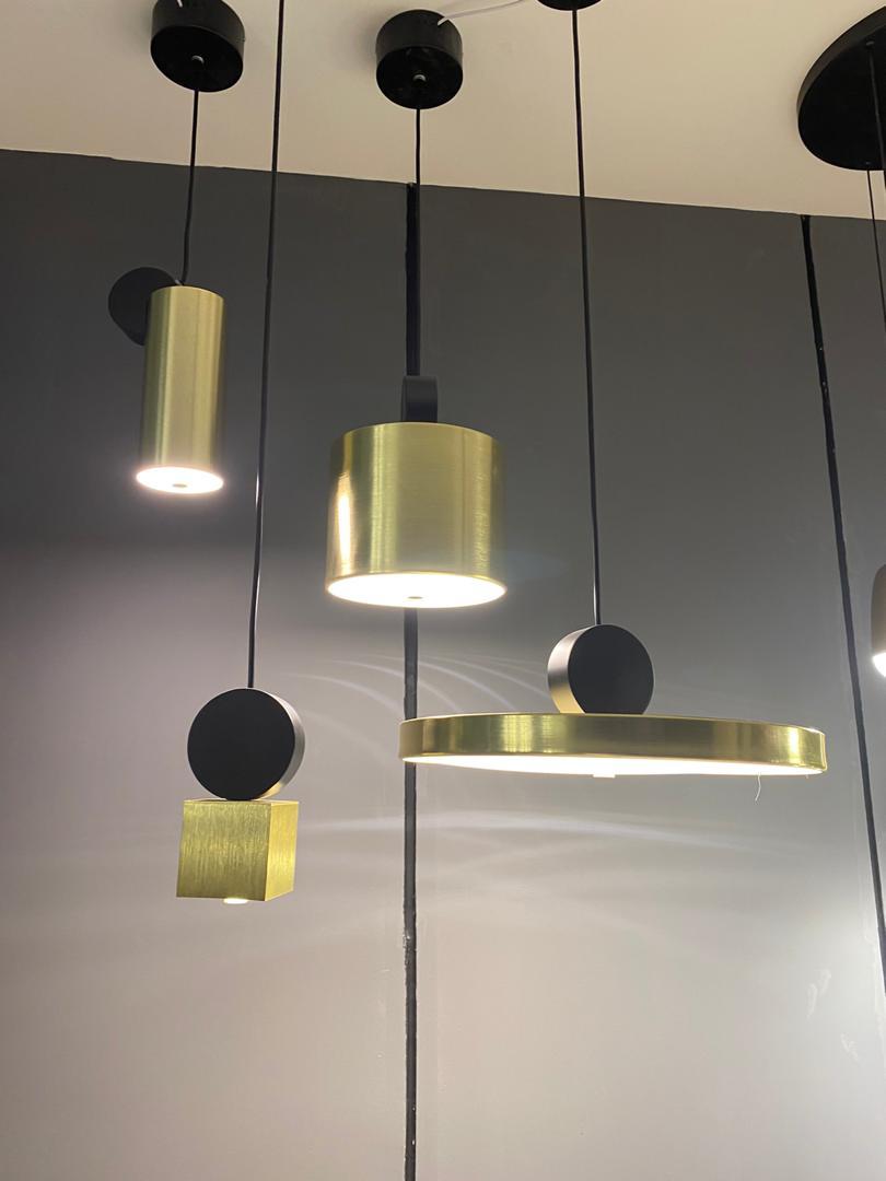 Подвесной светодиодный светильник LUSTRAM Calée 23 CALE PENDANT V2 23, LED, матовое золото, черный, металл - фото 3