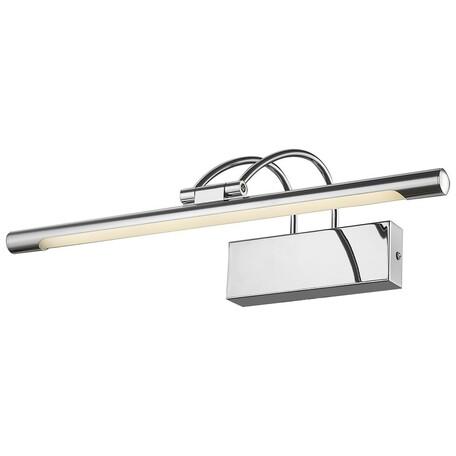 Настенный светодиодный светильник Velante 208-101-01, LED 9W 4000K, хром, металл