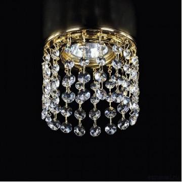 Встраиваемый светильник Artglass SPOT 16 CE, 1xGU10x35W, золото, прозрачный, металл, хрусталь Artglass Crystal Exclusive