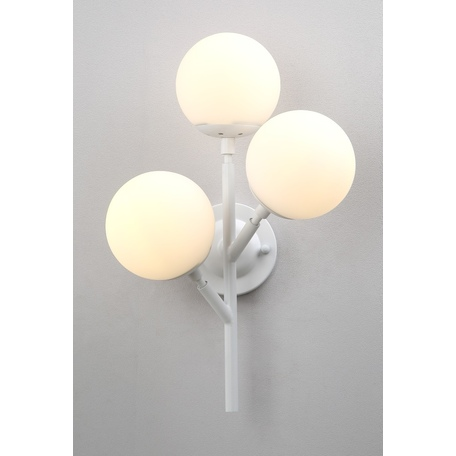 Бра Crystal Lux MEDEA AP3 WHITE 2421/403, 3xE27x60W, белый, металл, стекло