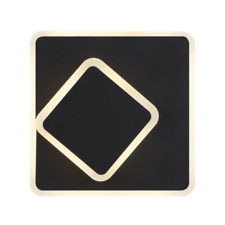 Настенный светодиодный светильник Crystal Lux CLT 224W250S BL 1400/452, LED 12W 4000K 1690lm CRI>80, черный, металл