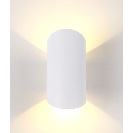 Настенный светодиодный светильник Crystal Lux CLT 134W WH 1400/471, IP65, LED 6W 3000K 360lm CRI>80, белый, металл