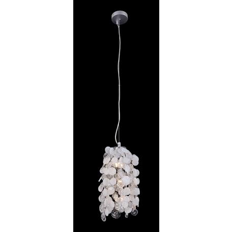 Подвесная люстра Crystal Lux TENERIFE SP3 SILVER 3181/103, 3xG9x40W, серебро, белый, металл, стекло