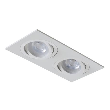 Встраиваемый светильник Crystal Lux CLT 002C2 WH 1400/149, 2xGU10x50W, белый, металл