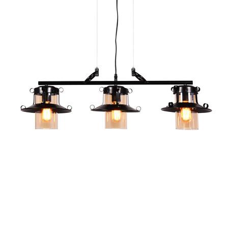 Подвесной светильник Lumina Deco Capri LDP 11328-3 PR BK, 3xE27x40W