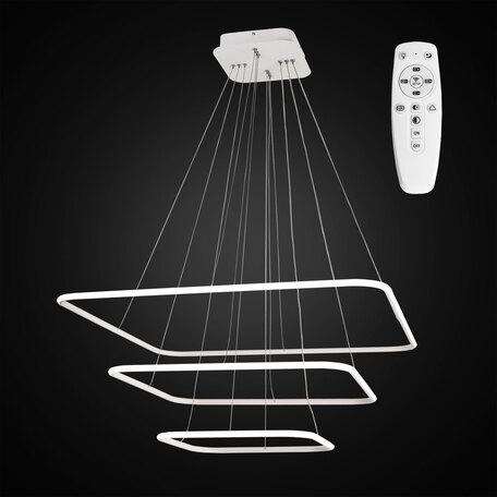 Подвесной светодиодный светильник с пультом ДУ Citilux Неон CL731K110 3000-4200K, белый, металл, пластик
