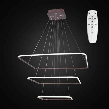 Подвесной светодиодный светильник с пультом ДУ Citilux Неон CL731K115, LED 110W 3000-4200K 7150lm, коричневый, металл, металл со стеклом/пластиком