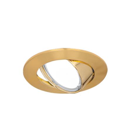 Встраиваемый светильник Gauss Metal CA007, 1xGU5.3x50W, золото, металл