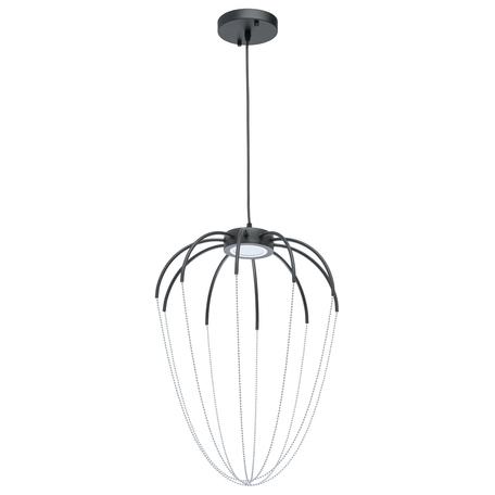 Подвесной светодиодный светильник De Markt Стелла 2 412010401, LED 9W 3000K, черный, хром, металл