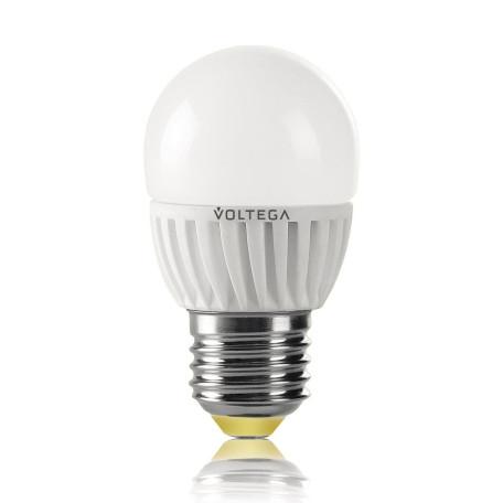 Светодиодная лампа Voltega VG1-G2E27cold6W 4696 шар малый E27 6,5W, 4000K
