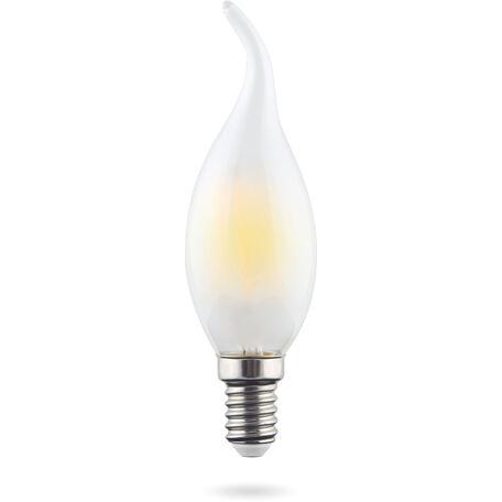 Светодиодная лампа Voltega Crystal 7025 свеча на ветру E14 6W, 2800K (теплый) 220V, гарантия 3 года