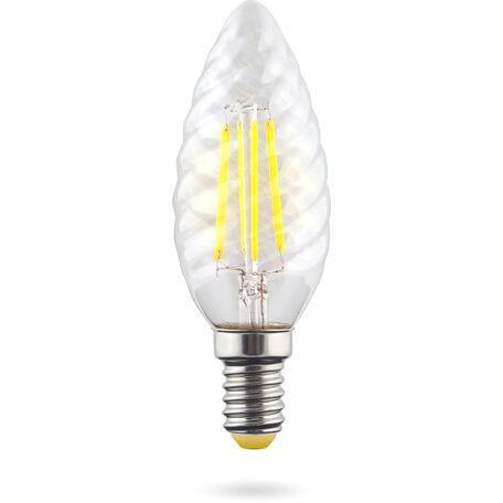 Светодиодная лампа Voltega Crystal 7027 витая свеча E14 6W, 2800K (теплый) 220V, гарантия 3 года
