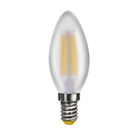 Филаментная светодиодная лампа Voltega Crystal 7044 свеча E14 6W, 2800K (теплый) 220V, гарантия 3 года