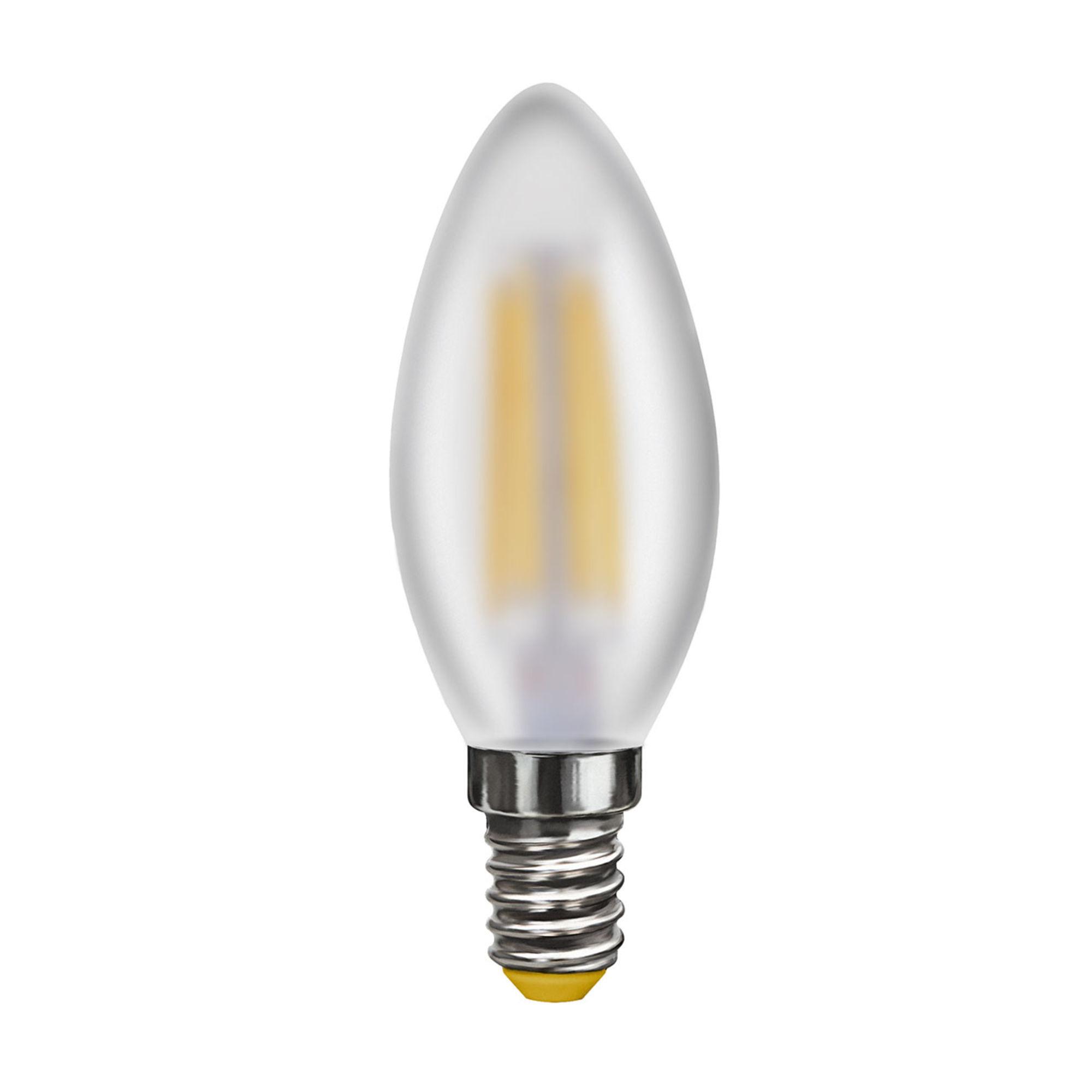 Филаментная светодиодная лампа Voltega Crystal 7044 свеча E14 6W, 2800K (теплый) CRI80 220V, гарантия 3 года - фото 1