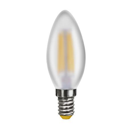 Филаментная светодиодная лампа Voltega Crystal 7045 свеча E14 6W, 4000K (дневной) 220V, гарантия 3 года