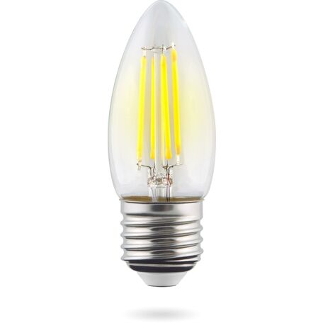 Филаментная светодиодная лампа Voltega Crystal 7046 свеча E27 6W, 2800K (теплый) 220V, гарантия 3 года