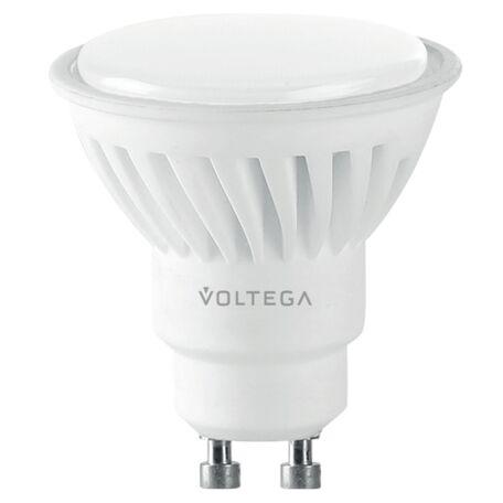 Светодиодная лампа Voltega Ceramics 7073 MR16 GU10 10W, 4000K (дневной) 220V, гарантия 3 года