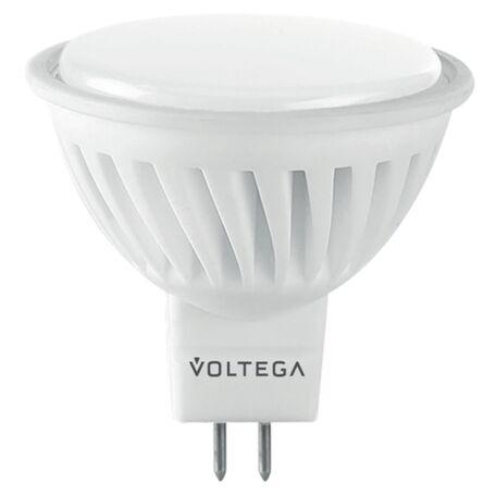 Светодиодная лампа Voltega Ceramics 7075 MR16 GU5.3 10W, 4000K (дневной) 220V, гарантия 3 года