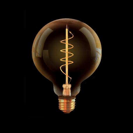 Филаментная светодиодная лампа Voltega Loft LED 7076 шар малый E27 4W, 2000K (теплый) 220V, диммируемая, гарантия 3 года
