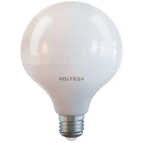 Светодиодная лампа Voltega Simple 7086 шар E27 15W, 2800K (теплый) 220V, гарантия 2 года